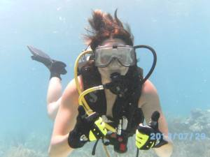 That's me scuba diving in the Key's:) Great form of exercise!